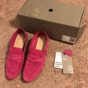 Pink Loafers - Suede